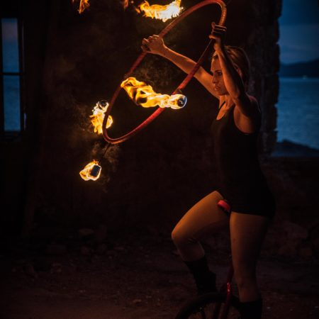 Unicycle & fire