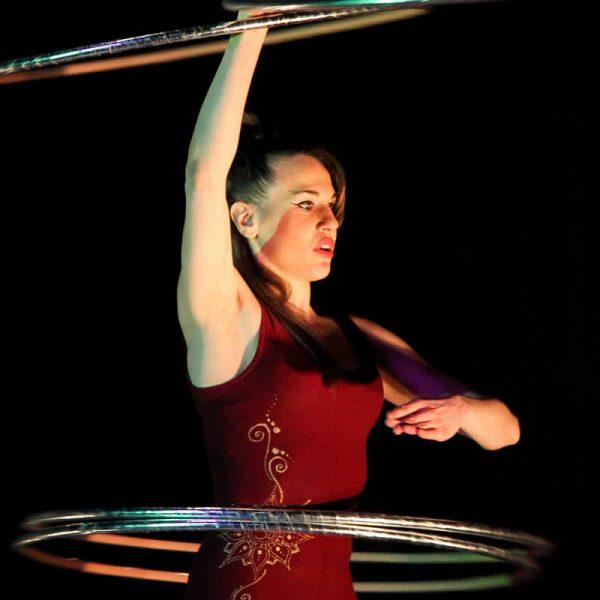 Rolling globe cabaret, circus style cabaret/elegant act