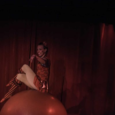 Clown musical act, traditional style circus act: Walking globe, hula hoops, accordion & unicycle