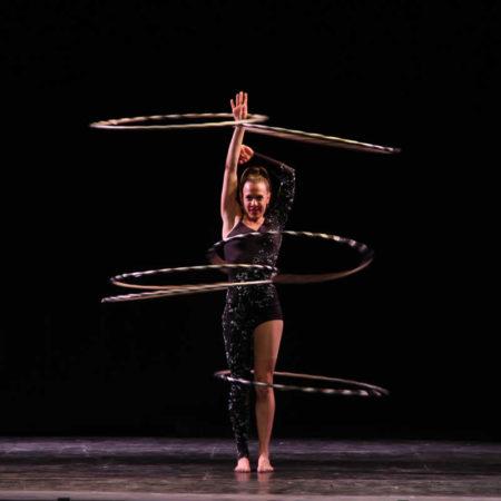 Crystallized, circus styled cabaret elegant act